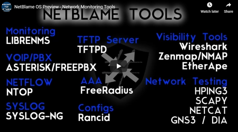 NetBlame – Linux Network Management Distro – Blame The Network